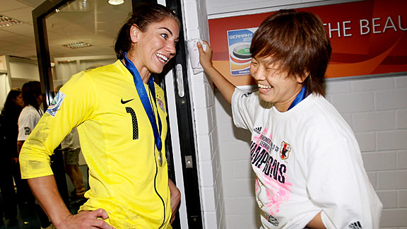 Hope Solo & Aya Miyama