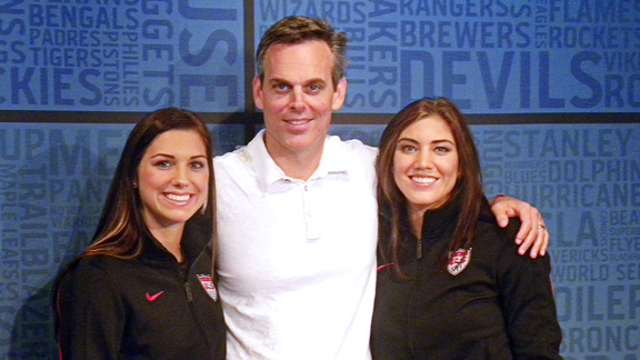 Colin Cowherd with Hope Solo and Alex Morgan