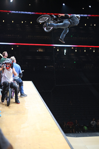 DMC, cancan at height during practice for X Games 16 in 2010.