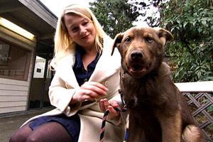 Marcie with Dog