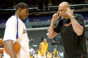 Kareem Abdul-Jabbar and Andrew Bynum