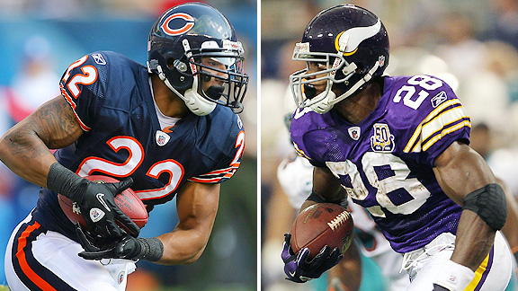 Matt Forte and Adrian Peterson