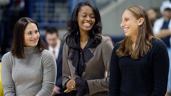 Sue Bird, Swin Cash and Diana Taurasi