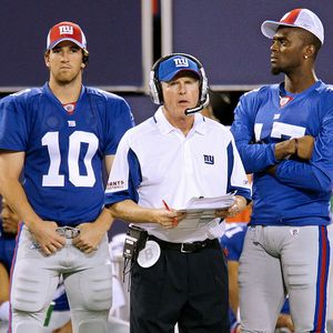 Eli Manning, Tom Coughlin, Plaxico Burress