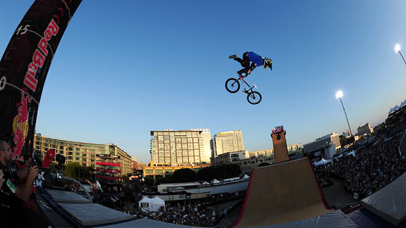 It was a bloodbath of injuries during BMX Big Air finals.
