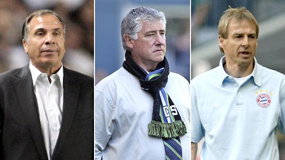 Bruce Arena, Sigi Schmid and Juergen Klinsmann