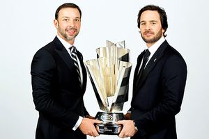 Chad Knaus and Jimmie Johnson