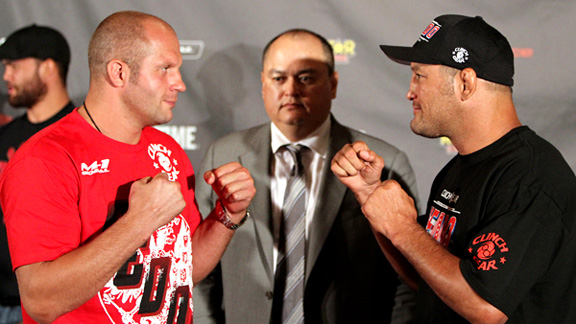 Fedor Emelianenko and Dan Henderson