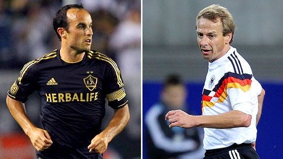 Landon Donovan and Juergen Klinsmann