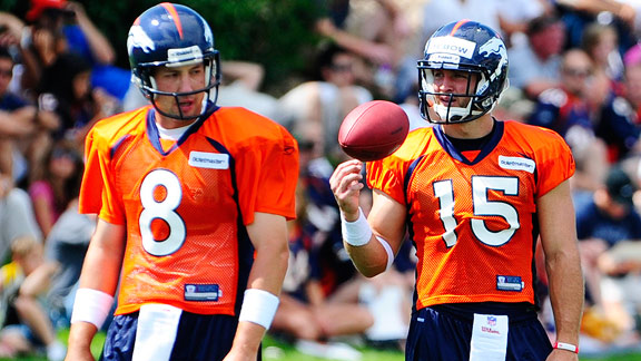 Kyle Orton and Tim Tebow