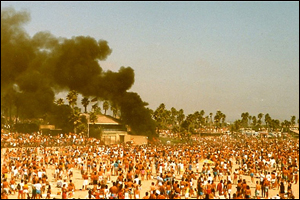 The Huntington Beach riots over Labor Day in 1986.