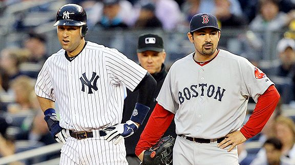 Derek Jeter and Adrian Gonzalez