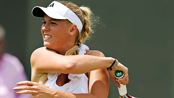 Caroline Wozniacki, pictured above, was spotted out with with Rory McIlroy in July.
