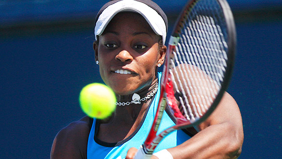 Sloane Stephens beat her first top-20 player, Julia Goerges, in the second round at Carlsbad.