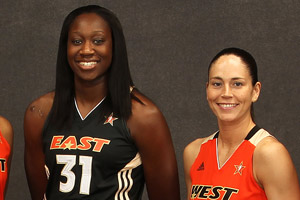 Tina Charles and Sue Bird