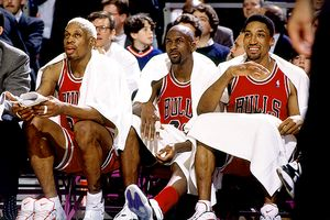 Scottie Pippen, Michael Jordan and Dennis Rodman