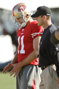 Jim Harbaugh and Alex Smith