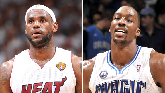 LeBron James and Dwight Howard