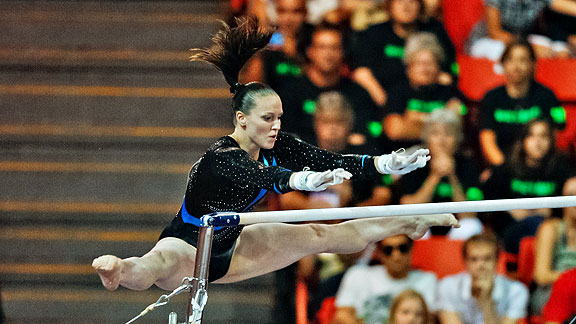 Chellsie Memmel, now 23, was the world all-around champion in 2005 and is back in competition with her signature moves intact.