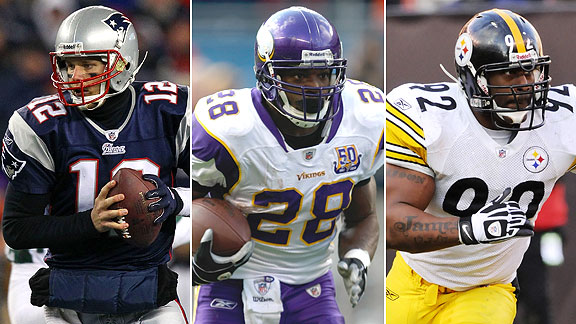 Tom Brady/Adrian Peterson/James Harrison