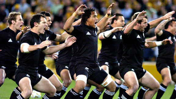 All Blacks of New Zealand rugby during a match in Australia