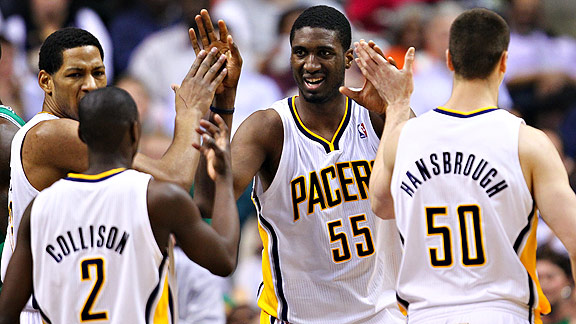 Roy Hibbert with the Indiana Pacers