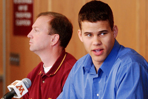 Dan Monson and Kris Humphries