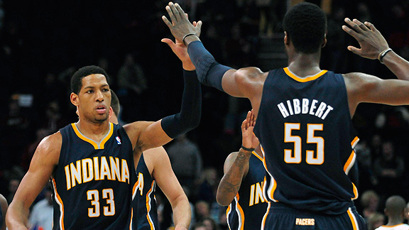 Danny Granger and Roy Hibbert