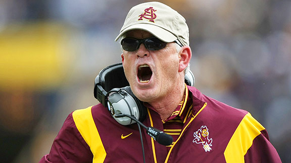 Arizona State Sun Devils Football Coach Dennis Erickson Goes Off The