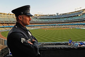 Dodger Stadium security