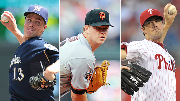 Zack Greinke, Matt Cain and Cole Hamels