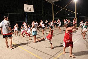 Brendan Schaub basketball court