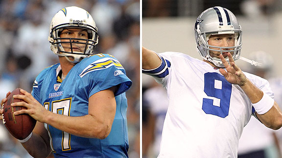 Philip Rivers and Tony Romo