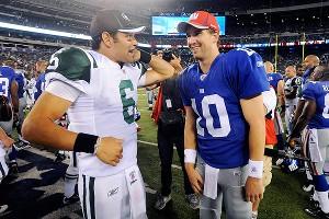 Mark Sanchez and Eli Manning