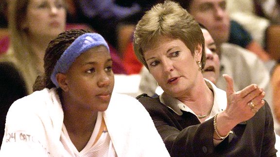Pat Summitt and Tamika Catchings