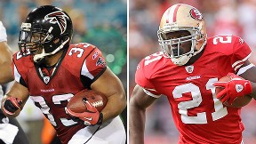 Michael Turner and Frank Gore