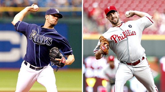 James Shields and Cliff Lee