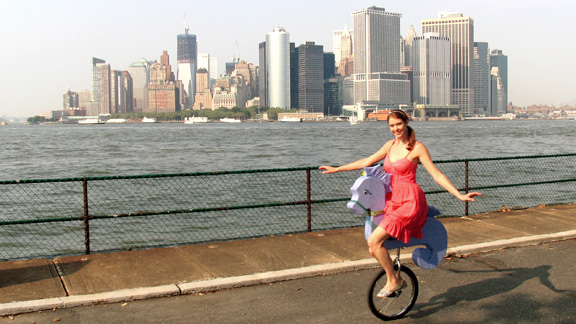 Unicycle NYC Skyline