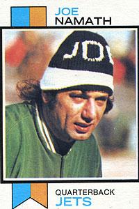 Joe Namath 1972 Topps