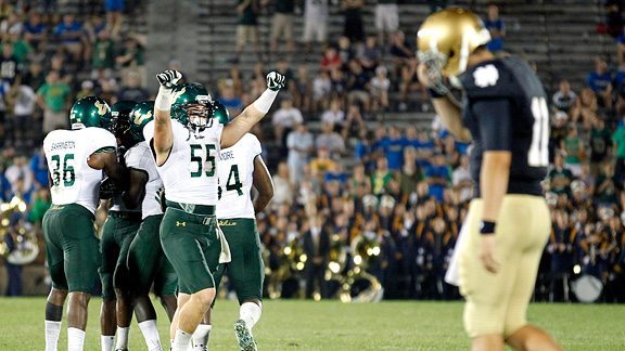Notre Dame and South Florida