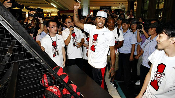 Derrick Rose's worldwide appeal was evident during his recent trip to China.