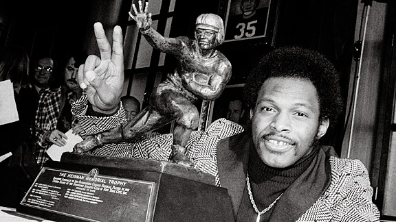 Archie Griffin after winning his second Heisman in 1975 with the Ohio State Buckeyes