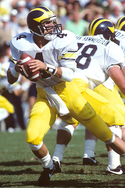 Jim Harbaugh, Michigan Quarterback