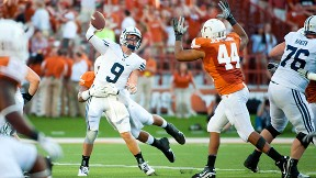 Texas defense pressures Jake Heaps