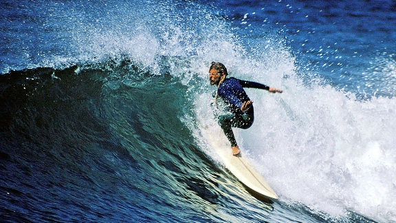 Star of the The Endless Summer, Mike Hynson was a famous board shaper and drug runner.