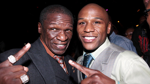 Floyd Mayweather Jr and Sr