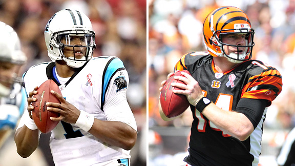 Cam Newton and Andy Dalton