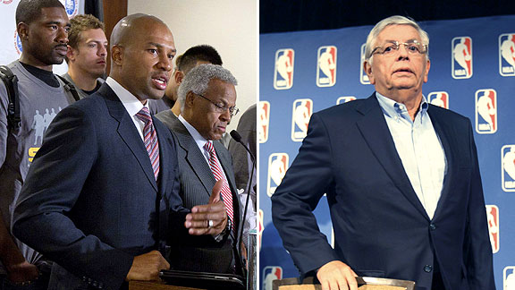 Derek Fisher and David Stern