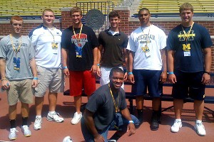 Tom Strobel with other Wolverine commitments and prospects