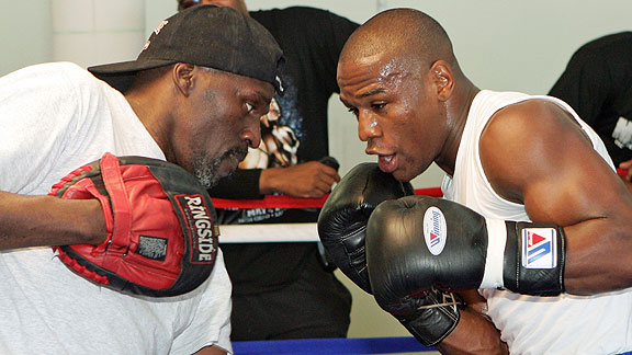 Trainer Roger Mayweather has guided his nephew, and in turn, Floyd wants to take care of his uncle.